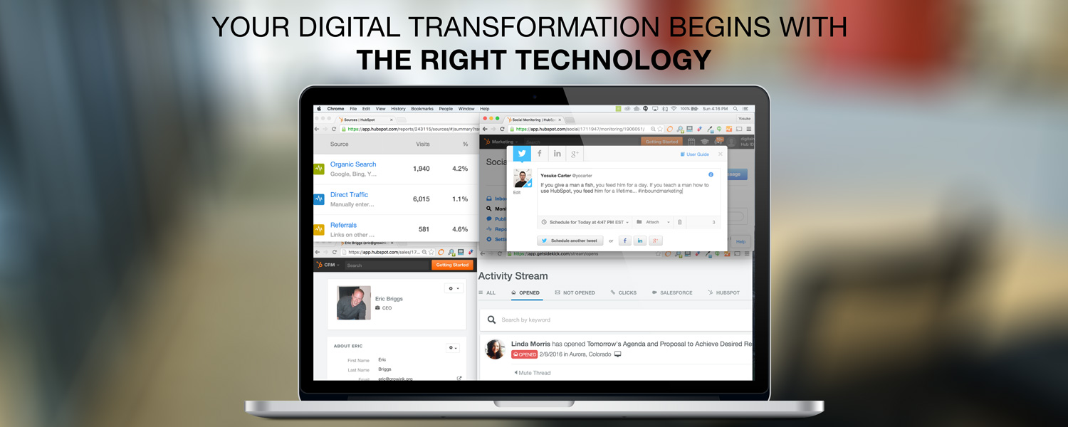 Digital transformations begin with the right technology